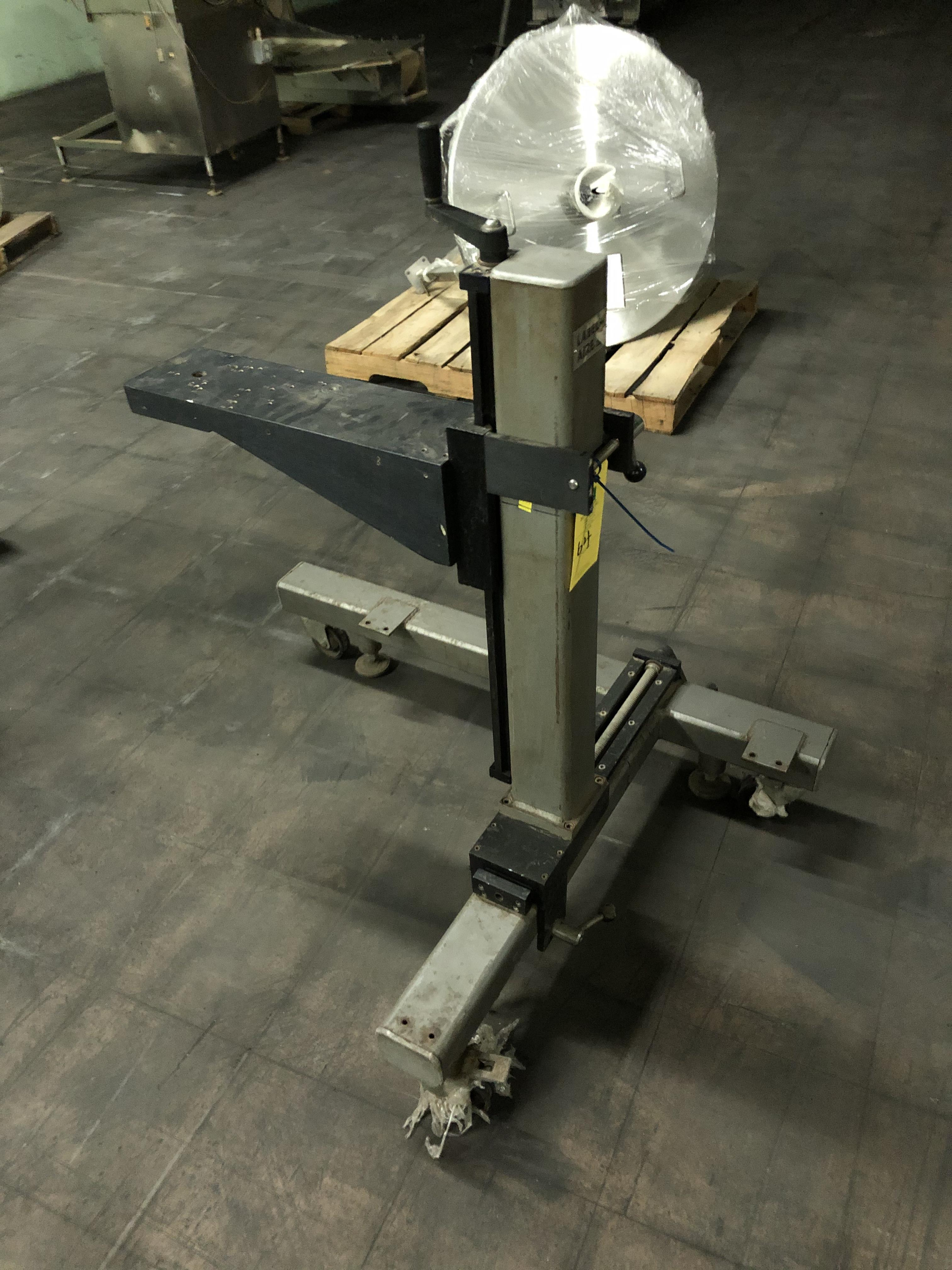 Label Aire Adjustable Stand Mounted on Casters, RIGGING FEE - $50 - Image 2 of 2