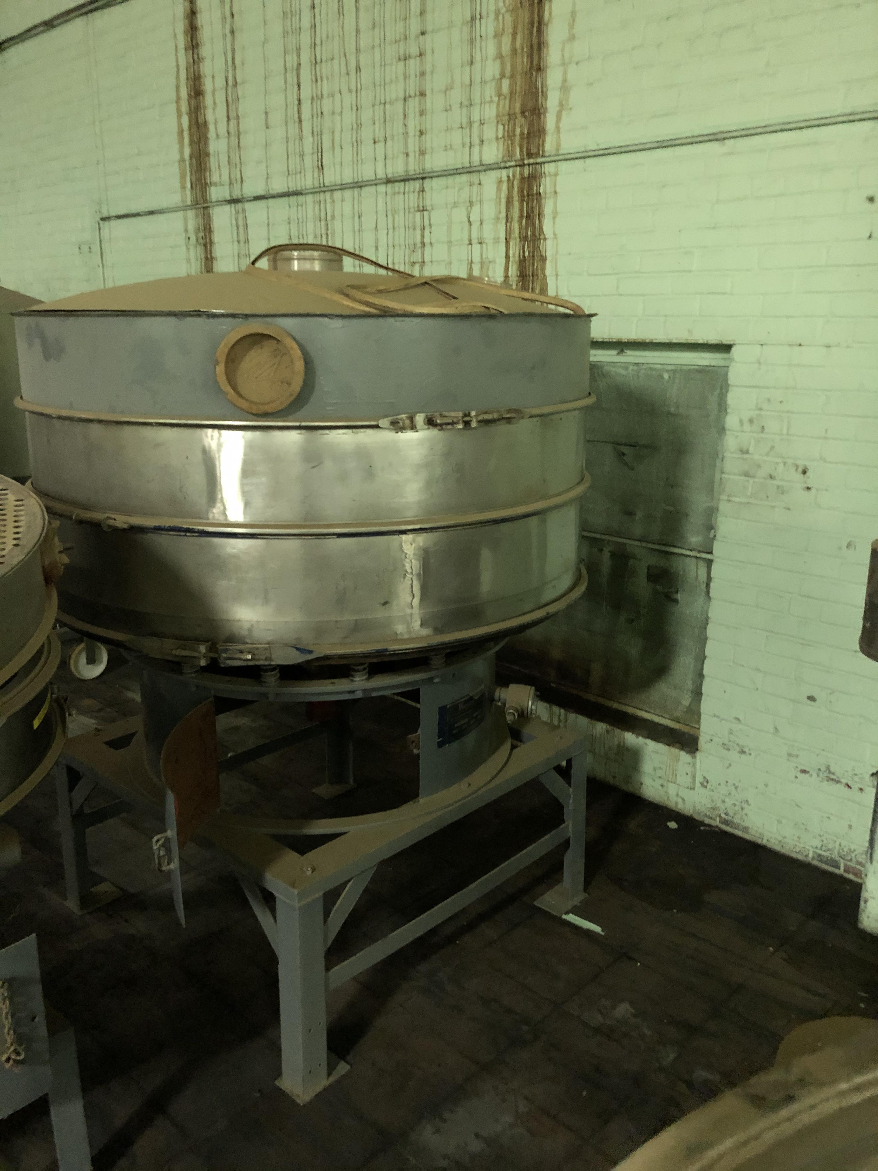 "Kason Model K-60-1-SS Vibratory Screen Separator, 60"" Diameter, SN 4020, RIGGING FEE - $100 - Image 3 of 3"