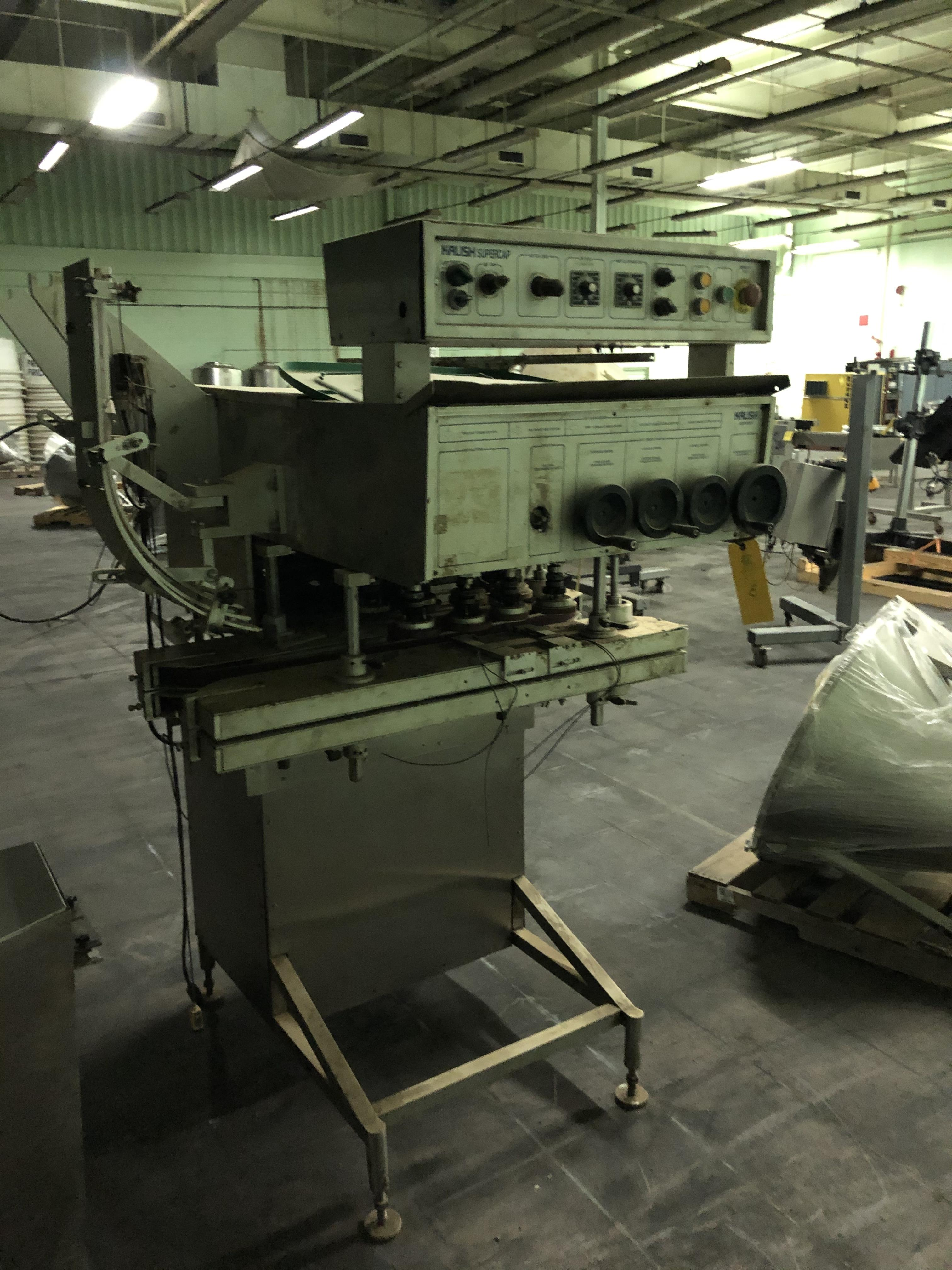 Kalish Model #5010 Supercap Capper, SN 0310, Includes Conveyor Feed, RIGGING FEE $450 - Image 2 of 6