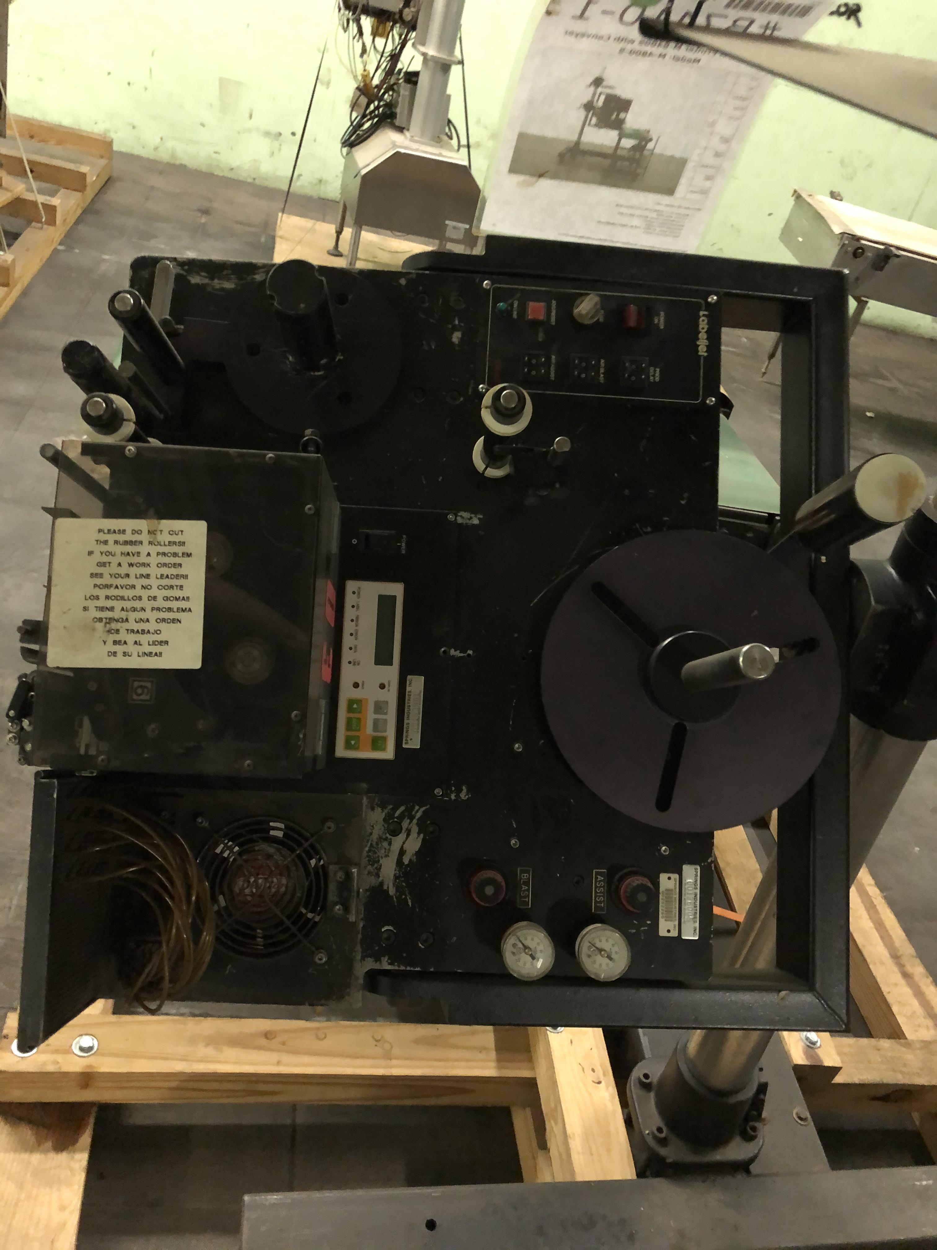 Label Jet Model #8400-S Printer, Includes Conveyor, RIGGING FEE - $175 - Image 2 of 3