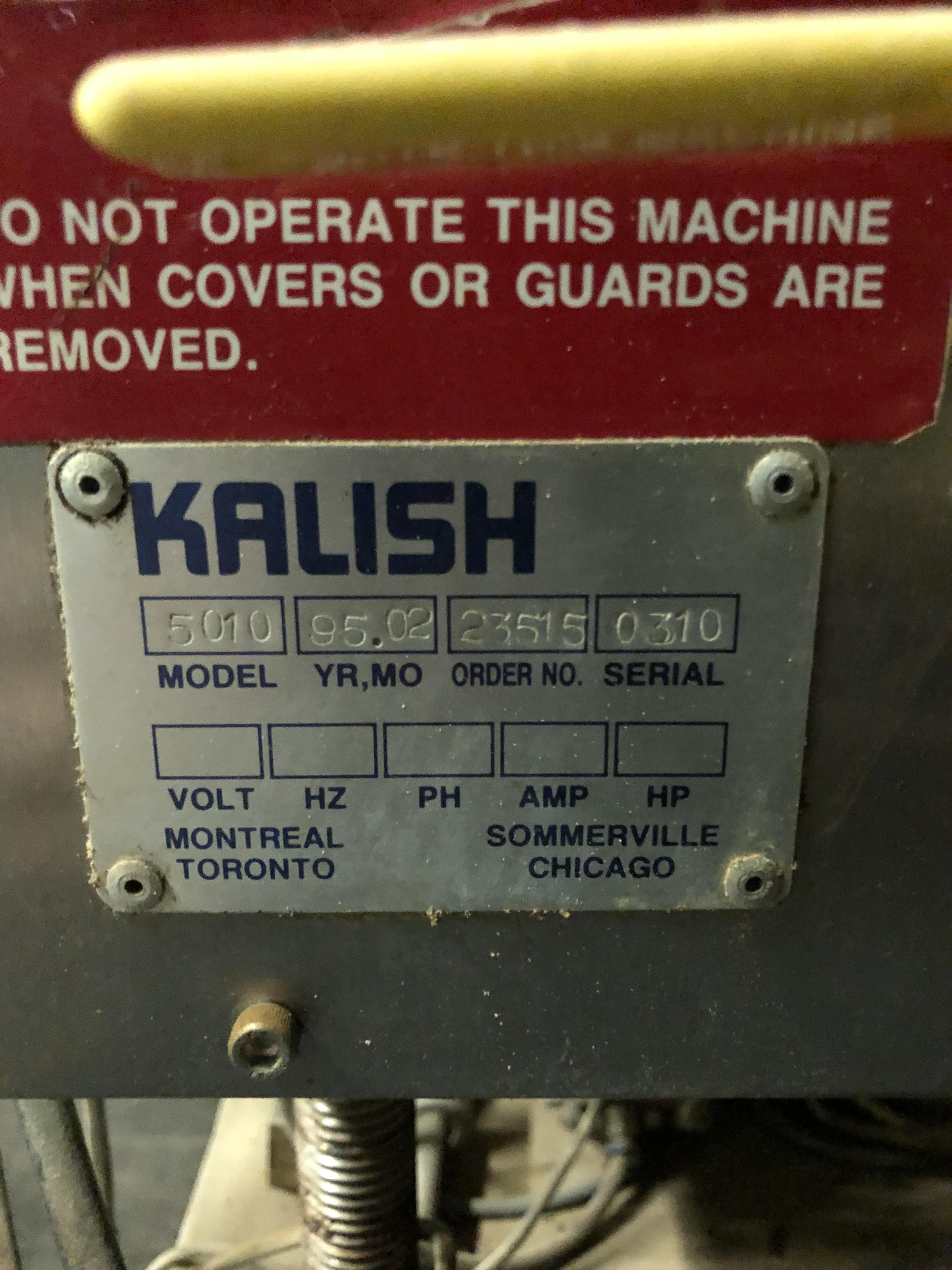 Kalish Model #5010 Supercap Capper, SN 0310, Includes Conveyor Feed, RIGGING FEE $450 - Image 3 of 6