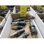 LOT: (6) Assorted Cat 40 Tool Holders in (1) Box