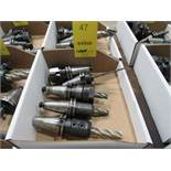 LOT: (5) Assorted Cat 40 Tool Holders in (1) Box