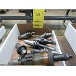 LOT: (7) Assorted Cat 40 Tool Holders in (1) Box