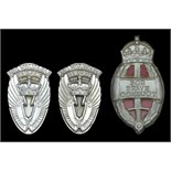 Lot 318 - Queen's Commendation for Valuable Service in the Air (2) silver pin-backed badges, contained in