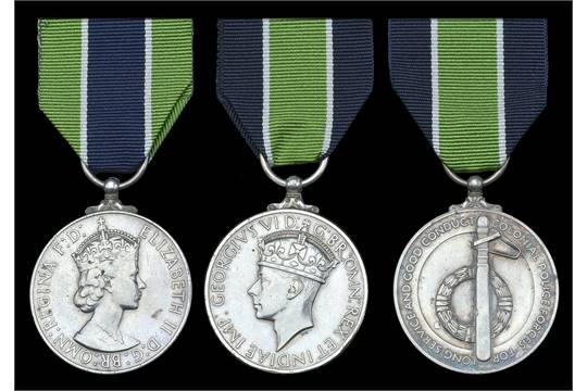 Colonial Police Medal, E II R , 1st issue, for Meritorious Service