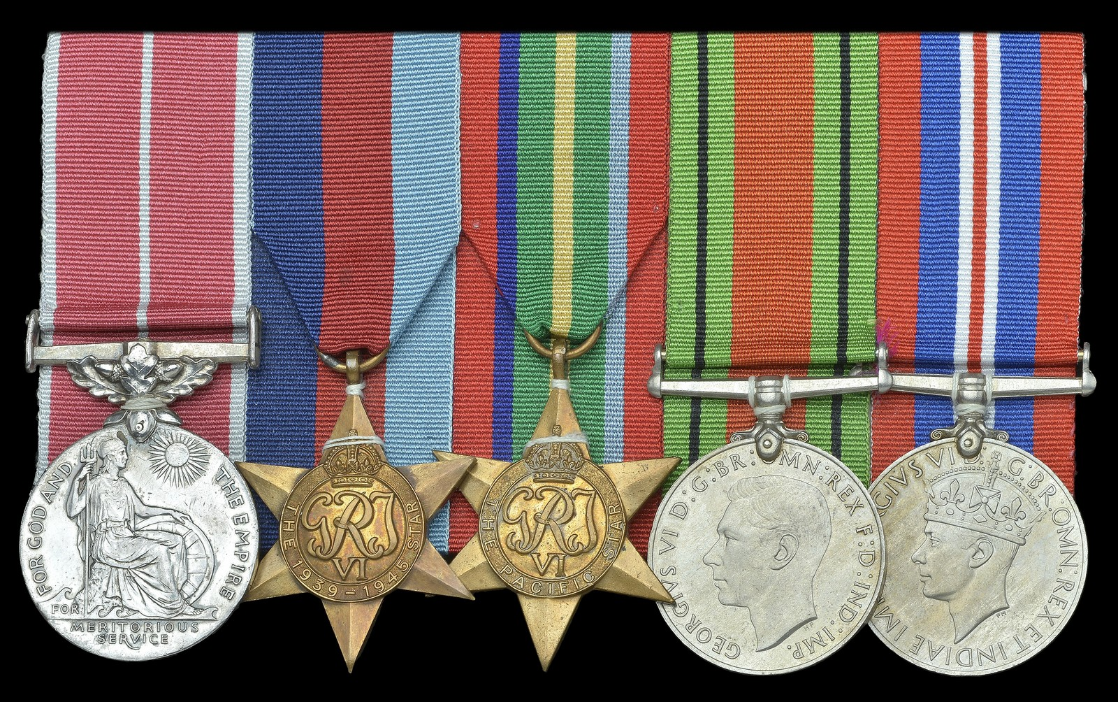 Lot 633 - A scarce Far East 'Prisoner-of-War' B.E.M. group of five awarded to Company Havildar-Major Amir Ali,