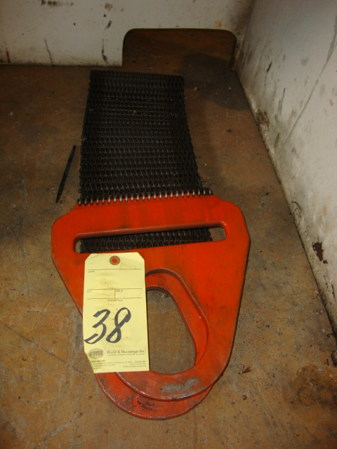 "Lot 38 - LIFTING SLING, steel mesh, 8""W. x 38""L. (located under the benches)"