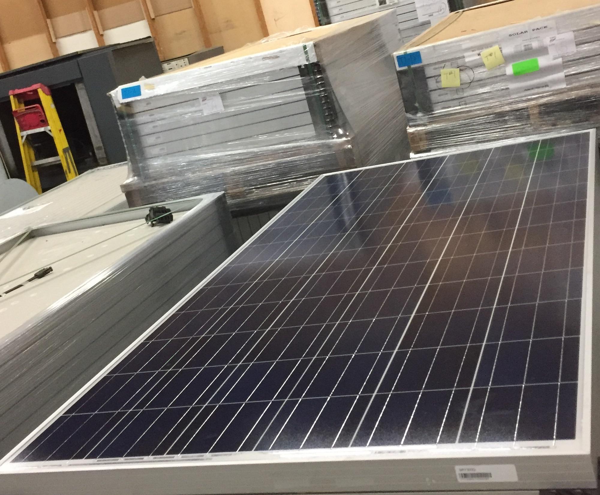Lot 34 - LOT OF (5) 300 WATT SOLAR PANELS - (BIDDING IS PER PANEL MULTIPLIED BY 5)