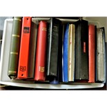 Great Britain-Accumulation used, some mint incl postage, in 10 large stock books and albums, some