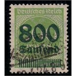 Germany 1923 800T inflation opt on 500m yellow-green fine used SG 300 Mi 307 rare Cat £2000