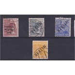 Germany Berlin 1948 allied occupation opt SG R14 used 1948 issues opt in black SG B5 B10 B13 used