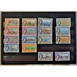 Bahamas-1954-63, Definitive set, (1/2-£1) l/n/mint(SG201-2016)Cat £100