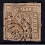 Germany (Bavaria) 1862/3 9k bistre-brown SG 29 fine used Cat £130 +