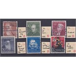 Germany 1952 Humanitarian relief fund set SG 1082/85 used, 75th anniversary German telephone SG 1087