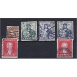 Germany Allied Occupation British-American Zone 1948-49 used selection Cat £35