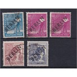 Germany Berlin 1948 Allied Occupation issues overprinted in black used selection Cat £63