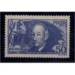 France 1938 Clement Ader (air pioneer) 50fr, SG 612a u/m mint