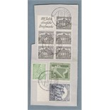 Germany 1950 Berlin Philharmonic Orchestra V. Fine used set on piece with 1pf booklet pane SG 35b