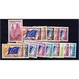France (Council of Europe) unmounted mint range of 15 values ex C1-C19