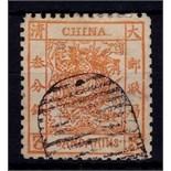 China - 1878 5 Candarin Orange Dragon Ref SG 3, fine used. Cat £550.