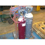 OXYACETYLENE TORCH - hoses gauges and bottle trolley (EXCLUDES BOTTLES)