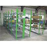 3 bays of BOLTLESS RACKING 5m x 2.2m x .6m
