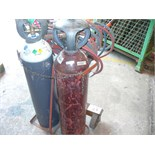 OXYACETYLENE TORCH - hoses gauges and bottle trolley(EXCLUDES BOTTLES)