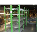 2 bays of BOLTLESS RACKING 5m x 2.2m x .6m
