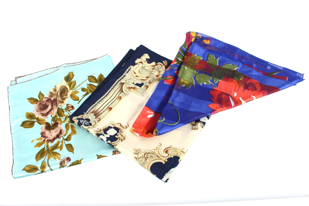 Lot 34 - A collection of Vintage silk scarves