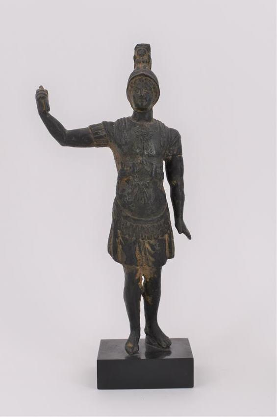 Lot 197 - Statuette de Mercure en bronze, patine brun vert, sur socle H. 26,5 cm (sans socle), [...]