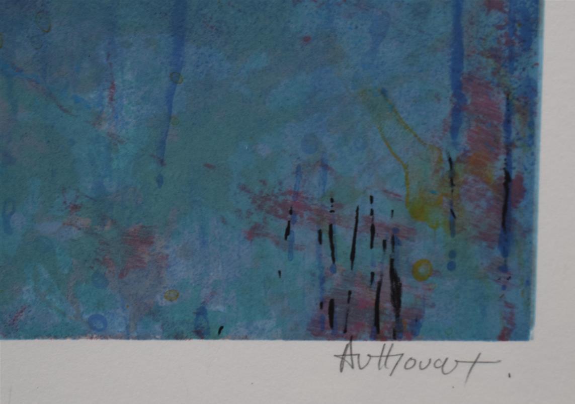 Lot 339 - Daniel AUTHOUART, Manhattan colors, lithographie en couleurs, 79 x 114 cm signé en [...]
