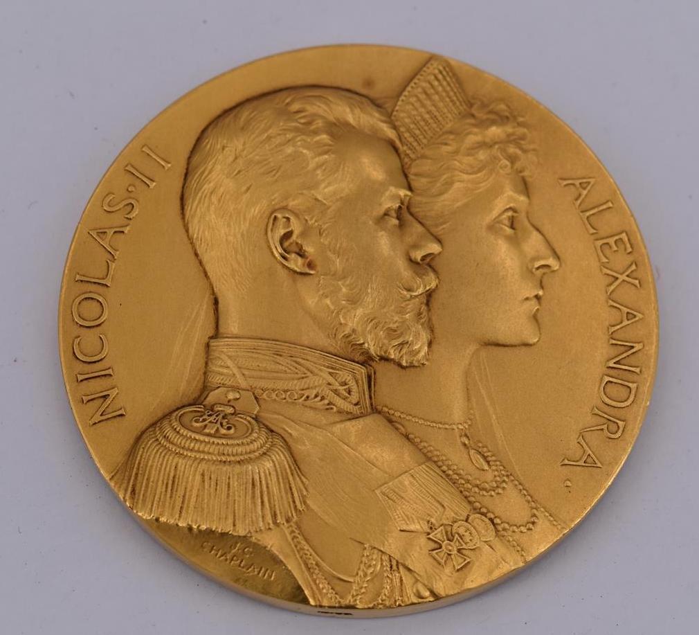 Lot 31A - J. C. CHAPELAIN Alliance Franco-Russe / Nicolas II (1868-1917) – Félix Faure [...]