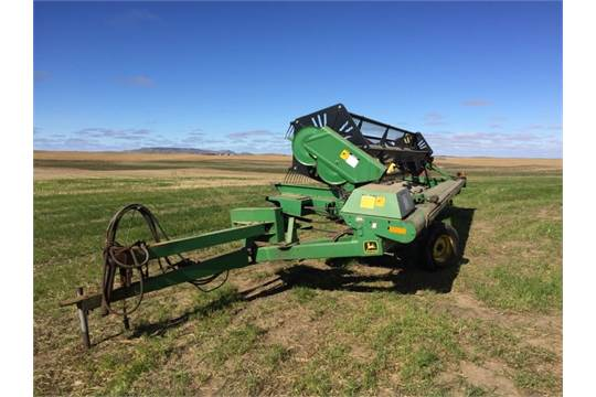 John Deere 590 Pull-type Swather 25 ft  with Canola Cutters