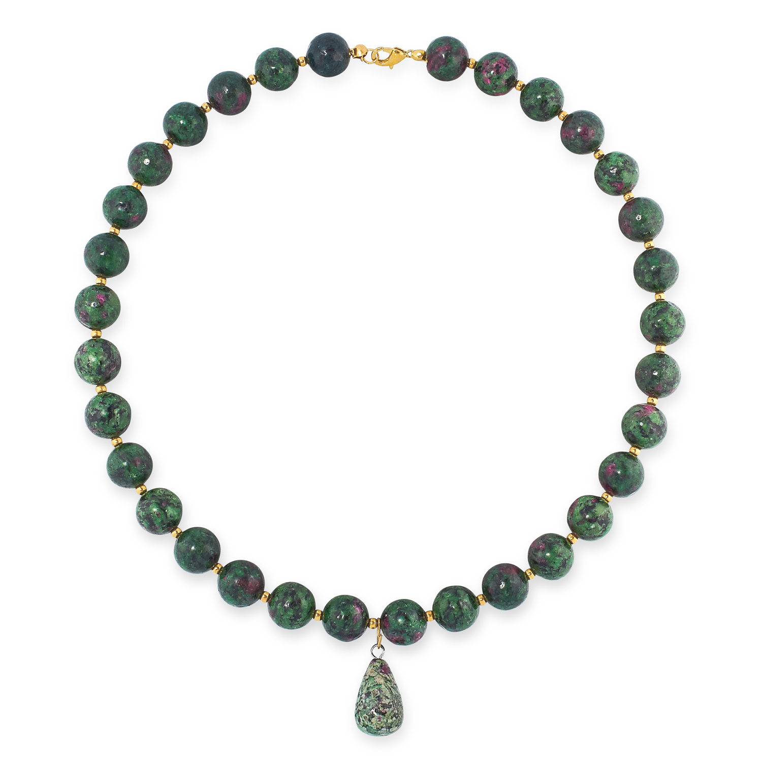 A MIXED LOT OF GEMSTONE BEAD NECKLACES, EARRINGS AND BRACELETS including jade, emerald, lapis - Image 8 of 13