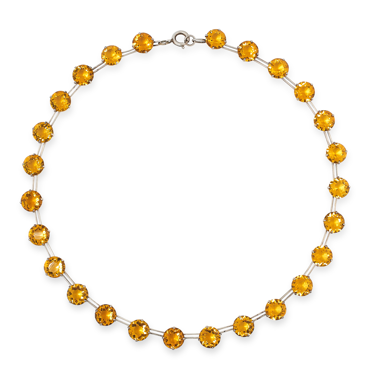 AN ANTIQUE SCOTTISH HARDSTONE AND CITRINE BRACELET comprising of carved and polished pieces of - Image 2 of 2