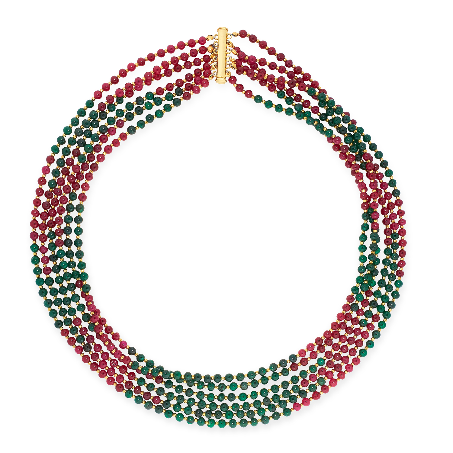 A MIXED LOT OF GEMSTONE BEAD NECKLACES, EARRINGS AND BRACELETS including jade, emerald, lapis - Image 11 of 13
