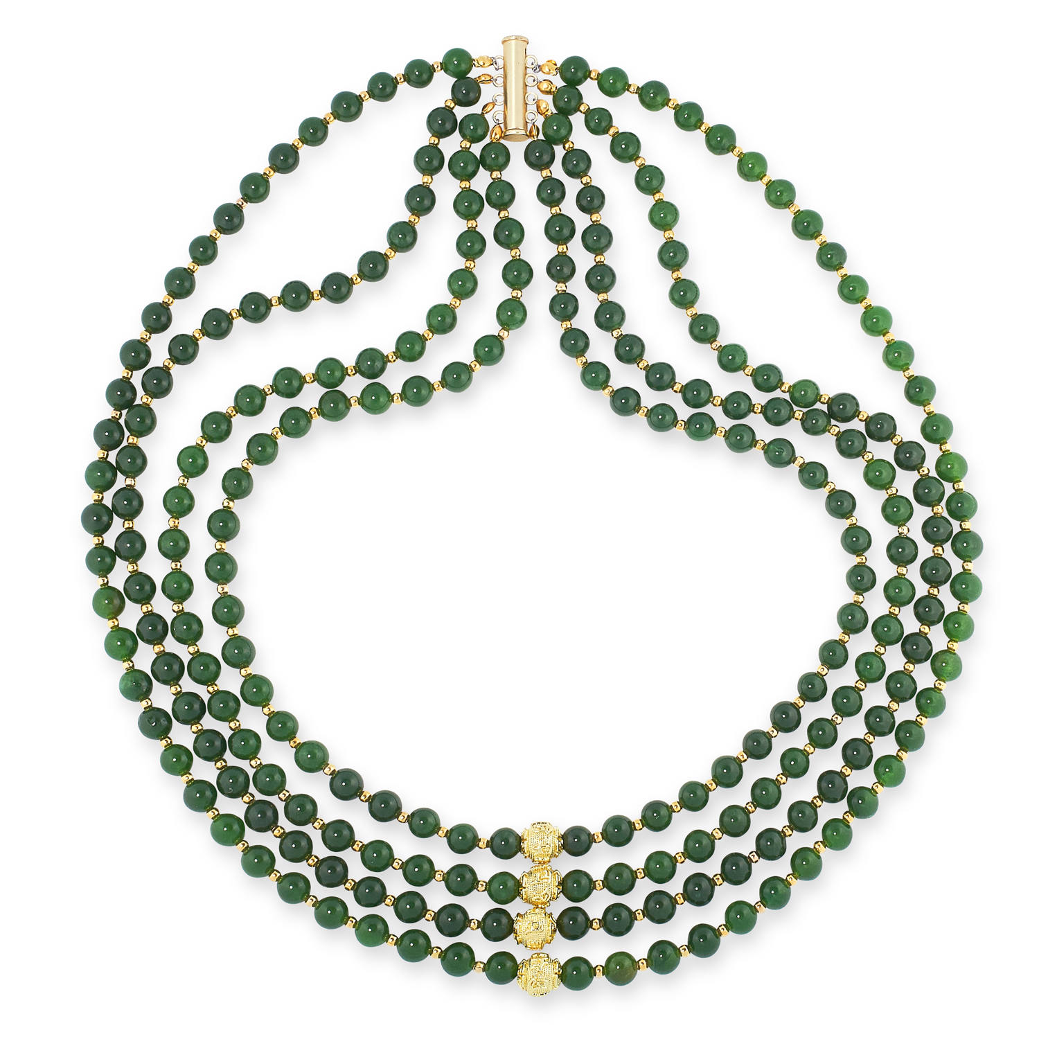 A MIXED LOT OF GEMSTONE BEAD NECKLACES, EARRINGS AND BRACELETS including jade, emerald, lapis - Image 6 of 13