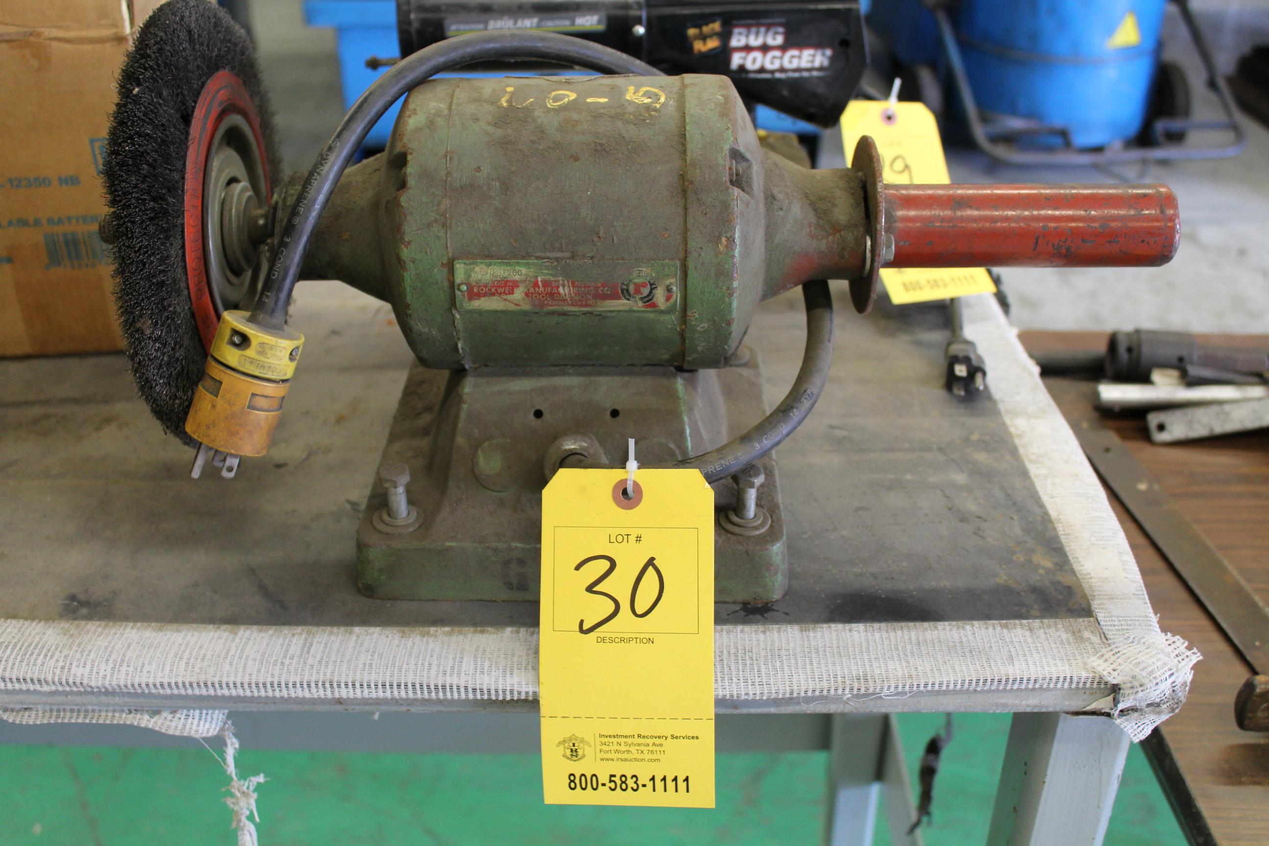 Lot 30 - ROCKWELL ELEC BENCH GRINDER