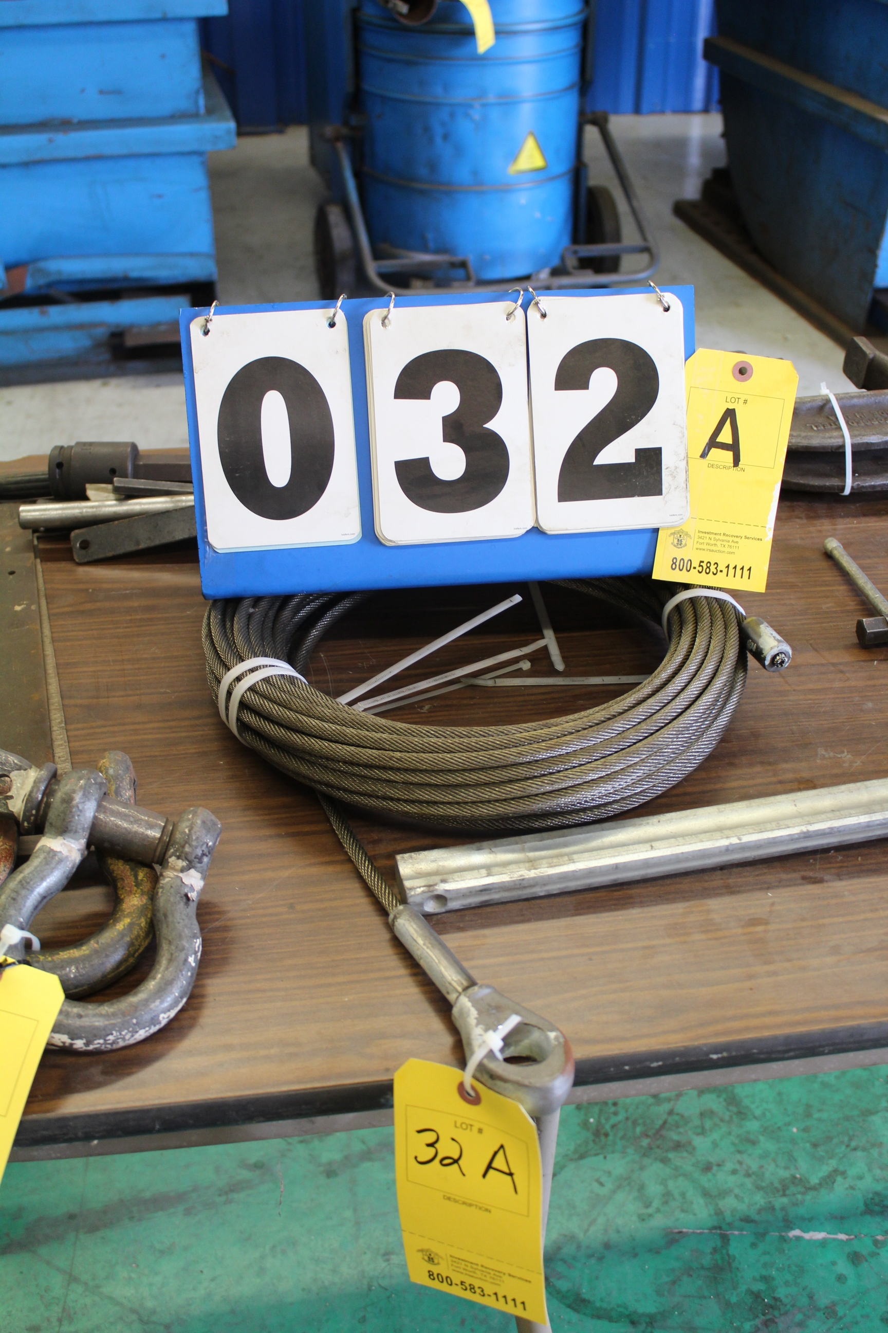 Lot 32A - 1 ROW 1/4 WIRE ROPE