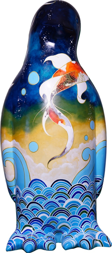 Lot 56 - Koi Waves - by Artists: Brodie Hart (Pinchy)