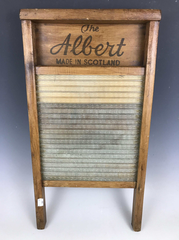 Lot 49 - A vintage The Albert Scotland wooden wash board