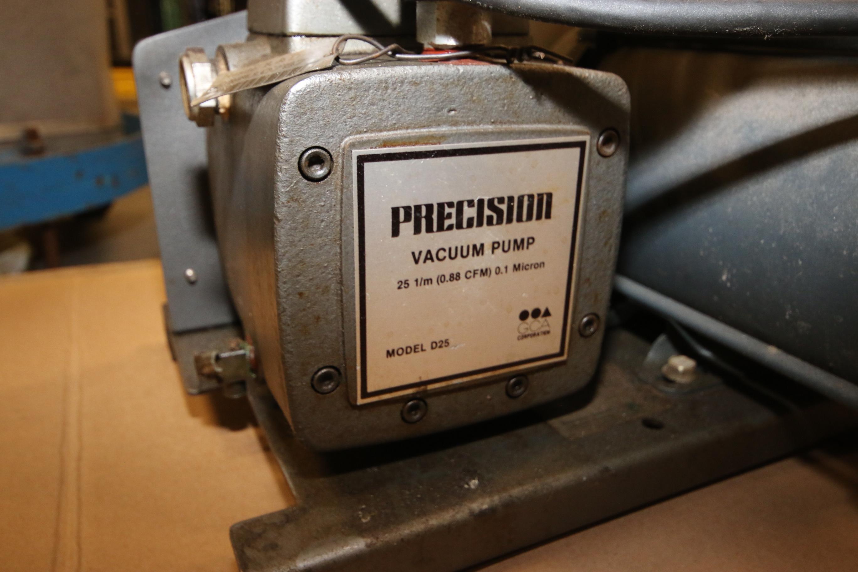 Lot 180 - Precision 1/3 hp Vacuum Pump, M/N D25, 1725/1425 RPM Motor