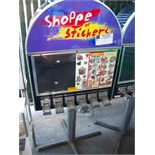6 SELECT STICKER TATTOO VENDING STAND