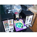 4 SELECT BASEBALL MANIA BULK GUM CANDY MACHINE
