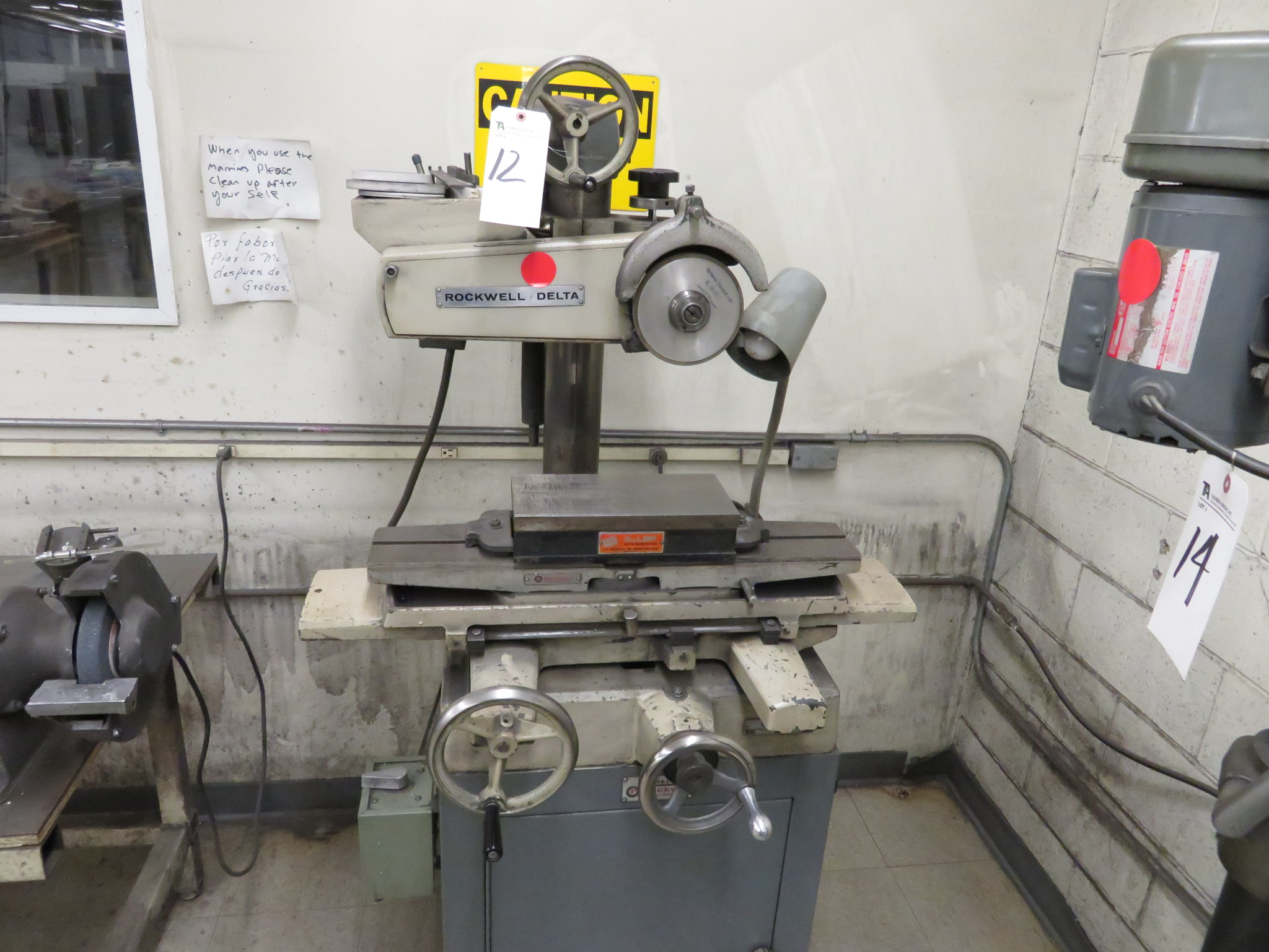 Rockwell/Delta mod. 24-150, Surface Grinder w/ LBP Electric Magnetic Chuck 6 x 12; S/N 1581446