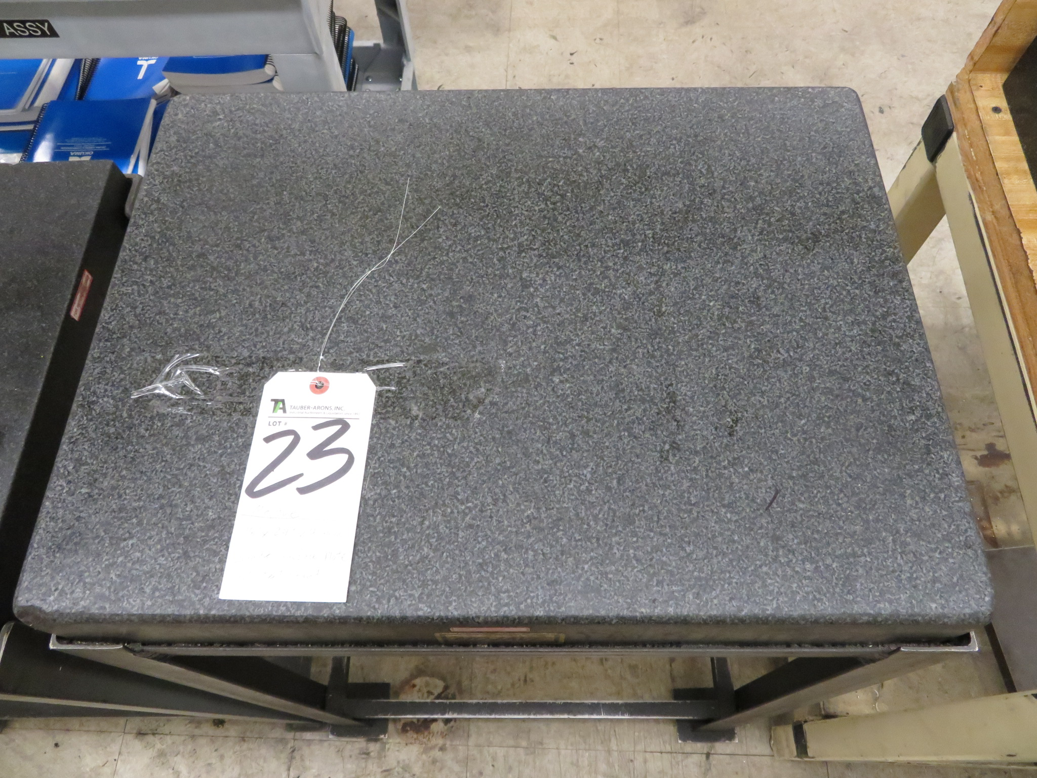 """Mojave 18"""" x 24"""" x 4"""" Thick Granite Surface Plate w/ Steel Stand"""