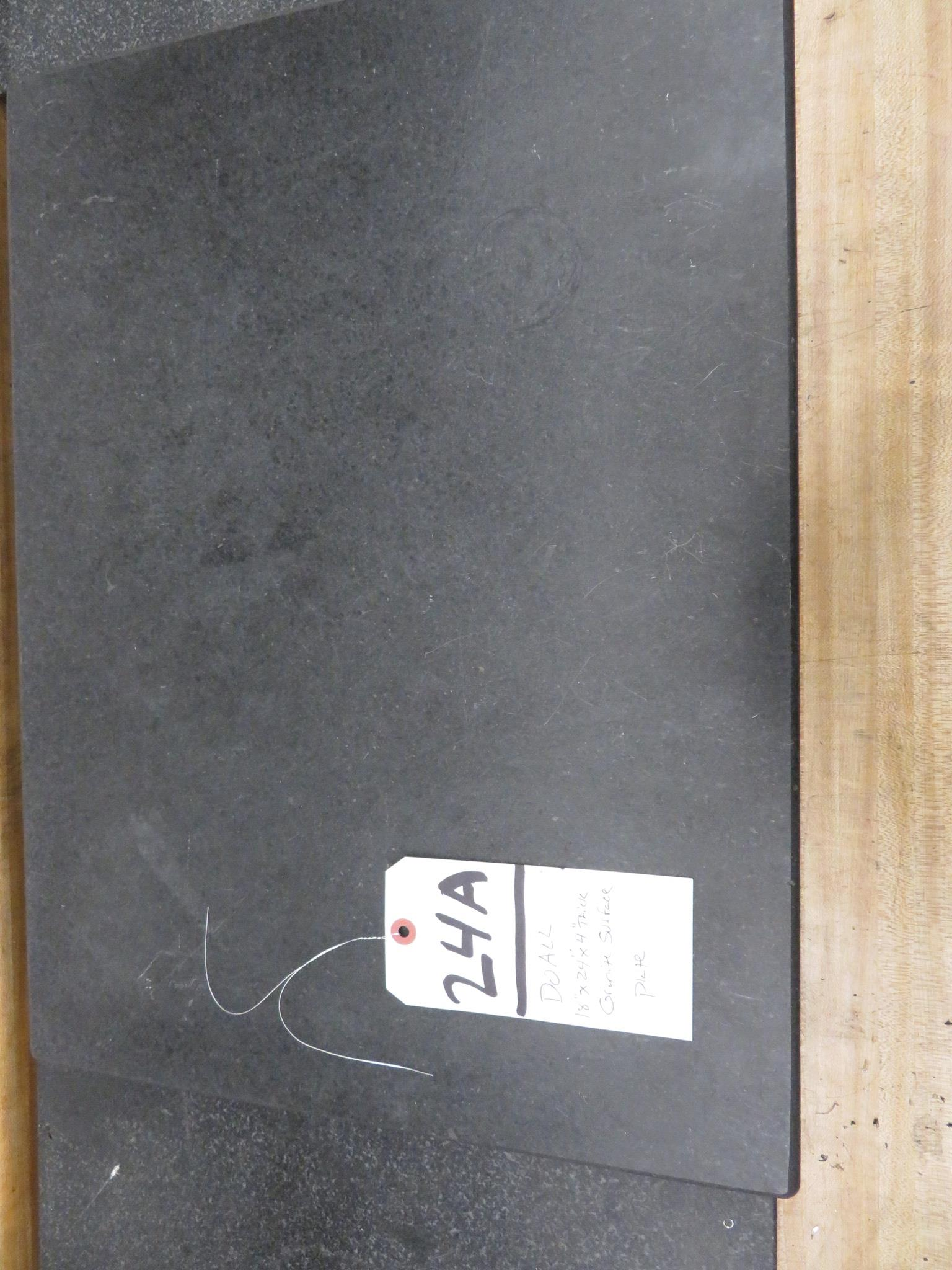 """DoAll 18"""" x 24"""" x 4"""" Thick Granite Surface Plate"""