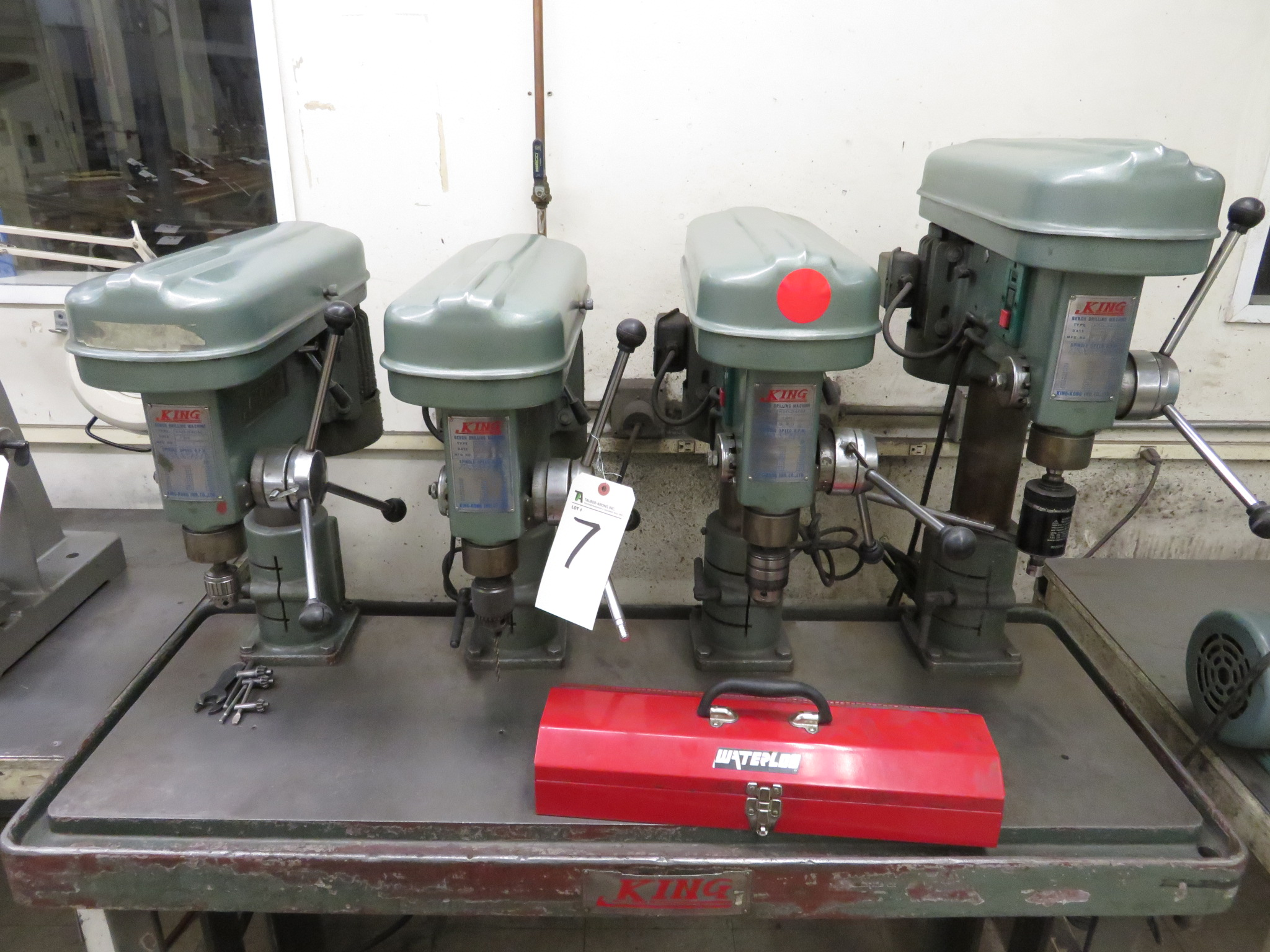 (Lot) (4) King Bench Drilling Machines