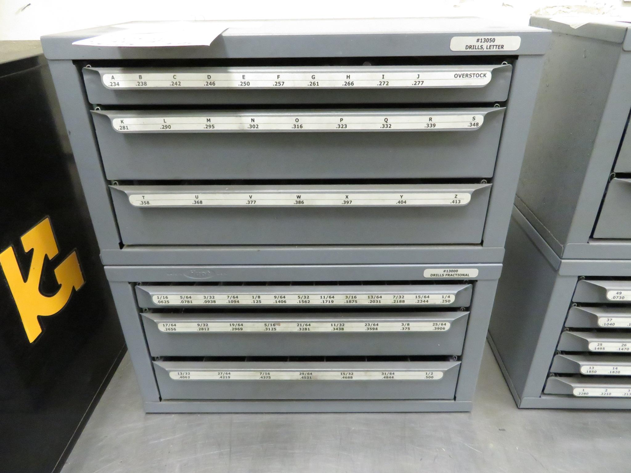 (Lot) (2) Drill Cabinets w/ Drill Bits - Image 2 of 2